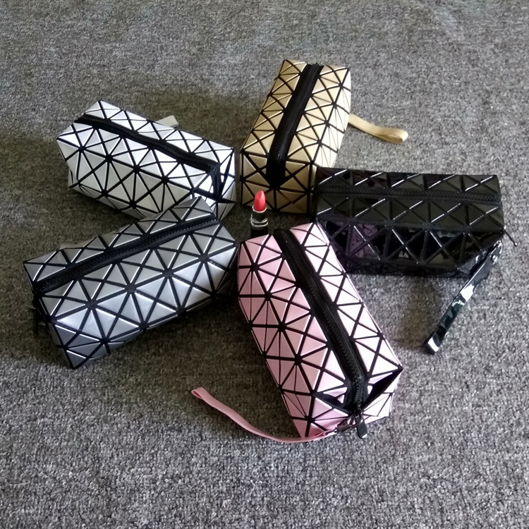 Women Laser Flash Diamond Leather Makeups