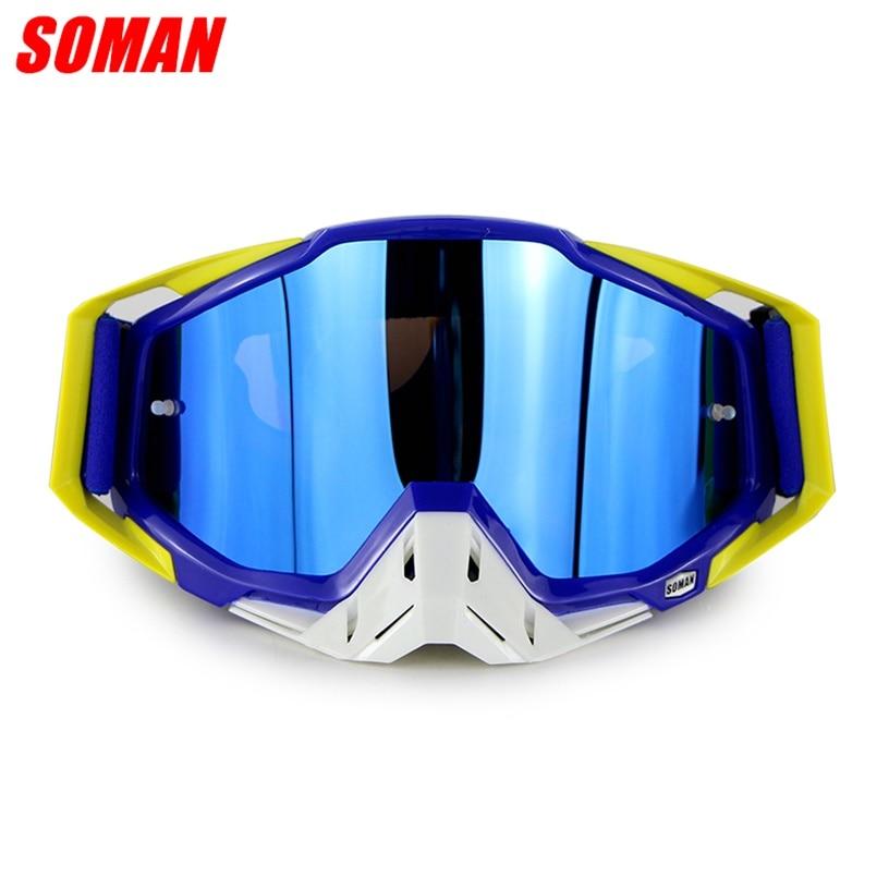 SOMAN SM11 Motorcycle Racing Goggles Motocross Off Road Glasses ATV Casque Moto Bike Gafas Dirt Bike Goggle