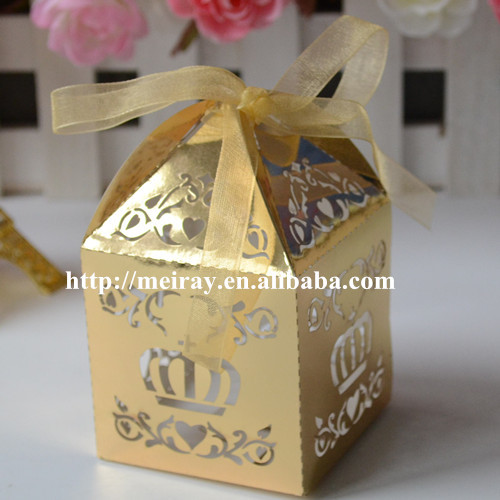 Laser Cut Wedding Cake Candy Gift Box Goldindian Wedding Return