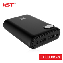 WST 10000mAh LED Digital Display Protable Powerbank 20650 Leisure Style Simple External Battery Pack