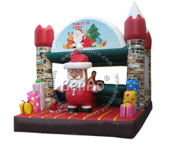 Inflatable christmas bouncer house for kids, China jumping castle +blower for sale