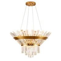 Роскошный Дизайн хрустальная люстра освещение Современная Лампа Dia60cm 80 см блеск cristal столовая фойе огни