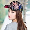 Summer Women Lady Flowers Butterfly Embroidered Golf Hat Adjustable Baseball Cap
