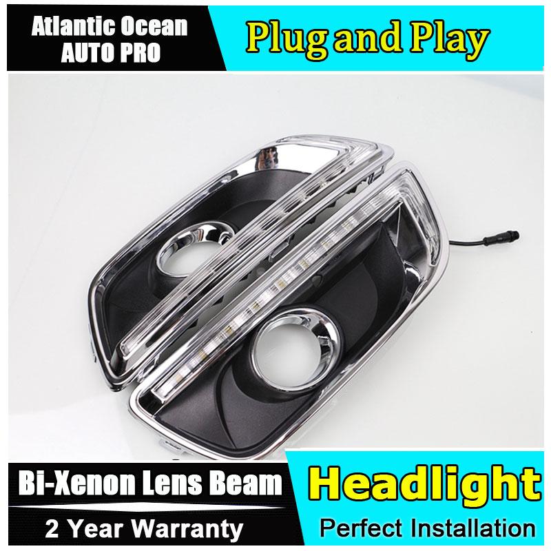 A&T car styling For Chevrolet Malibu High brightness guide LED DRL LED DRL For Malibu led fog lamps daytime running light