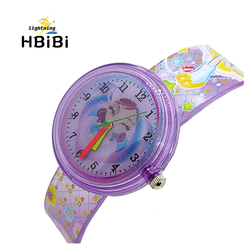 Two Patterns Dial Kids Watch Silicone Strap Love Dancing Girl Camouflage Children Clock Girls Quartz Watches Drop Shipping