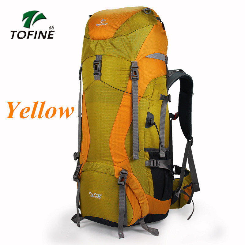 TOFINE Outdoor Backpack women Hiking Trekking Bag Camping Travel Water-resistant men Pack Mountaineering Climbing Bags Knapsack outad 60 5l outdoor water resistant nylon sport backpack hiking bag camping travel pack mountaineer climbing sightseeing hike