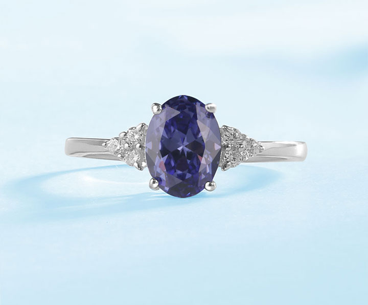 HTB1f9gvN3HqK1RjSZFgq6y7JXXag Kuololit Solid 925 Sterling Silver Rings For Women Created Tanzanite Gemstone Ring Wedding Engagement Band Fine Jewelry New