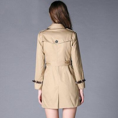 Fashion Long Slim Waterproof Windbreaker B13 in Trench from Women 39 s Clothing