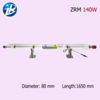 금속 헤드 140 w co2 레이저 튜브 최대 전력 140 w 직경 80mm ce 및 rohs