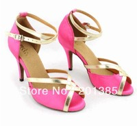 Ladies Pink Satin Sexy Salsa Ballroom Mambo Dancing Shoes Size 5,5.5,6,6.5,7,7.5,8,8.5,9,9.5,10