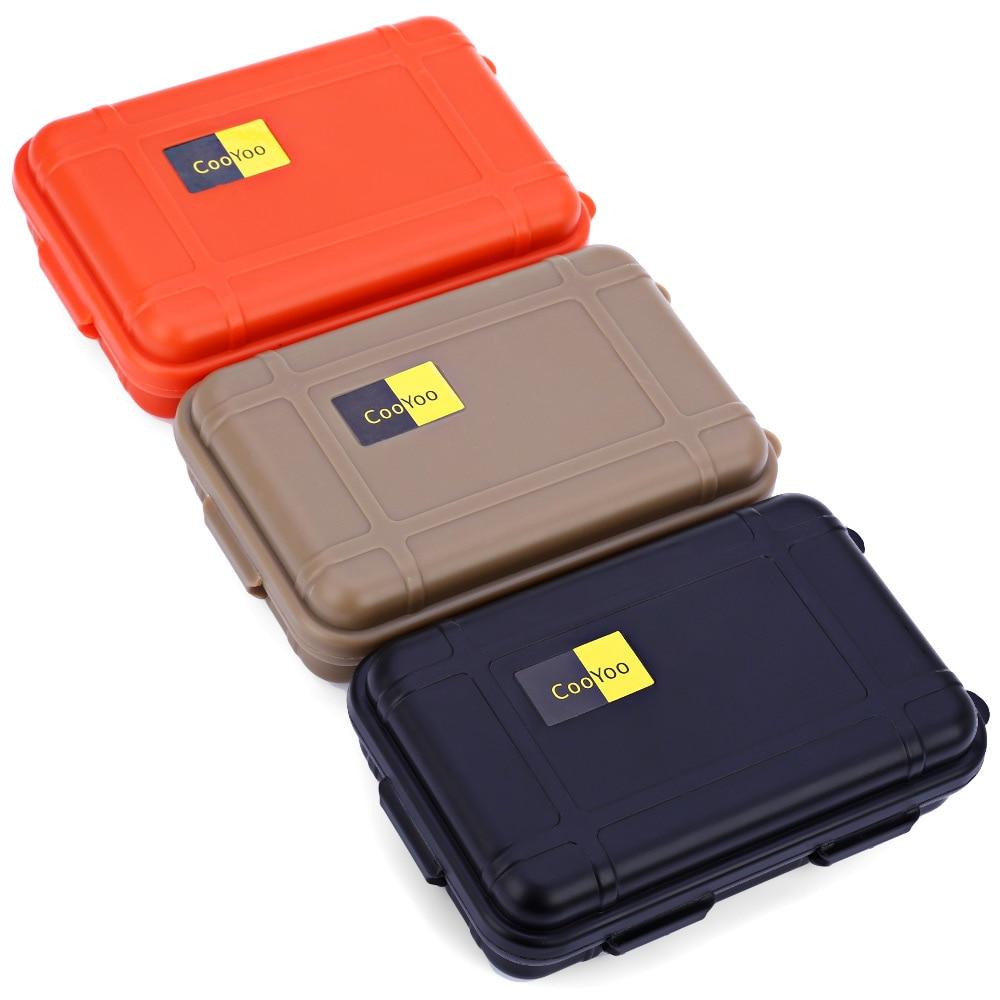 Engranajes EDC Táctico Impermeable Sellada caja Supervivencia Cajas de Almacenam