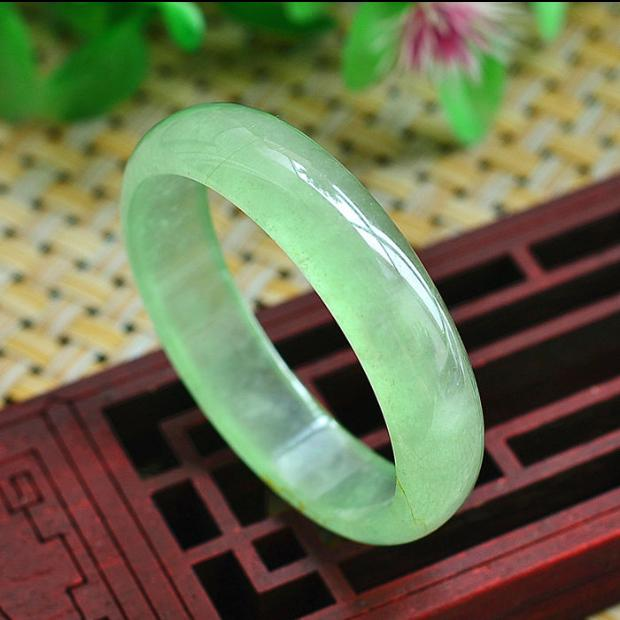 Jewelry & Accessories Jewelry Natural Yu Bracelet Elegant Natural Ice Green 54-62mm Chaise Bracelet A Class A National Certificate/ Bangles