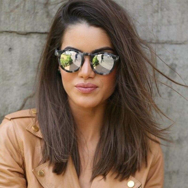 Fashion Luxury Sunglasses Women Brand Designer Vintage Round Sunglasses Retro Mirror Polarized Sun Glasses For Ladies/Female