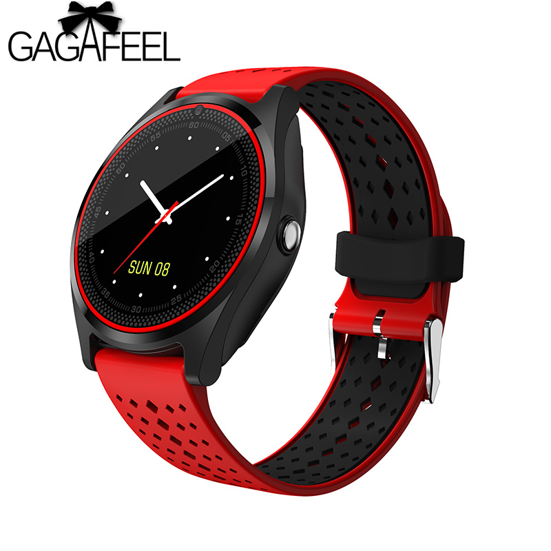 GAGAFEEL Smart Watch SIM Card Wristwatch for Android iPhone IOS Women Men Stop Watch Camera Sport Dial Call Clock smart watch v9 dz09 clock with camera bluetooth connected sim card smartwatch for ios android phone pk gt 08 dz 09 sport watch