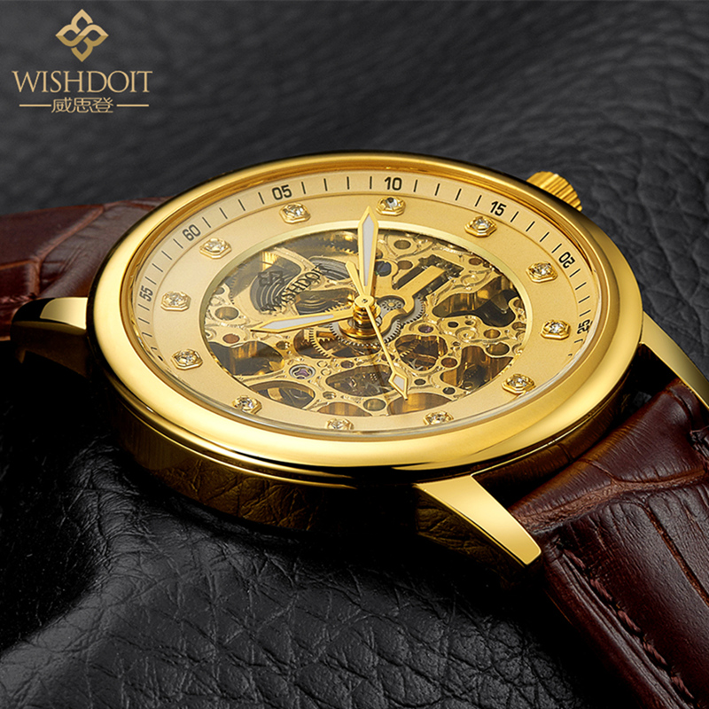 Mens watches Automatic mechanical watch tourbillon clock leather Casual business wristwatch relojes hombre top brand WISHDOIT binssaw 2016 men s watch automatic mechanical watch tourbillon clock leather casual business wristwatch relojes hombre top brand