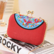 fashion promotion hand bag evening clutches high quality women handbag Embroidery hot style women bag