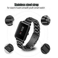 20 мм Замена Металлический Ремешок Для Xiaomi Huami Amazfit Bip бит темп  Lite Молодежные умные часы d42b7686ef927