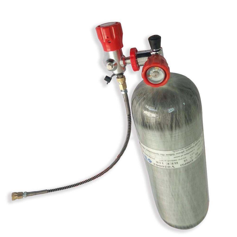 AC268101 6.8L DOT Carbon Fiber Paintball Tank Pcp Air Gun Air Softgun Quick Release Coupling Dive Tank Cylinder For Pcp Acecare