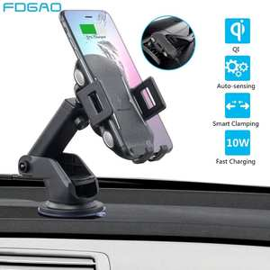FDGAO Mount Car-Charger iPhone 11 Samsung S10 Wireless 10W for XS Xr-X-8 S9 Air-Vent