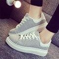 2017 новый Harajuku нижние туфли на платформе vivid обувь леди ретро плоские туфли Черный белый причинно с femal обувь 35-39 A003