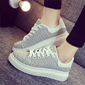 2017 new Harajuku  bottom platform shoes vivid shoes lady retro flat shoes Black white causal In with femal shoes 35-39 A003