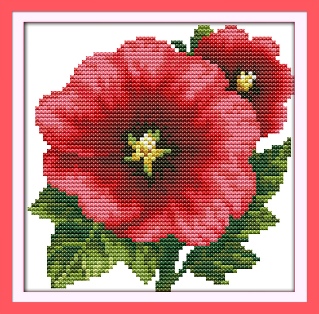 Joy Sunday Floral Style Tropaeolum Majus Counted Free Quick And Easy Cross Stitch Patterns For Beginners