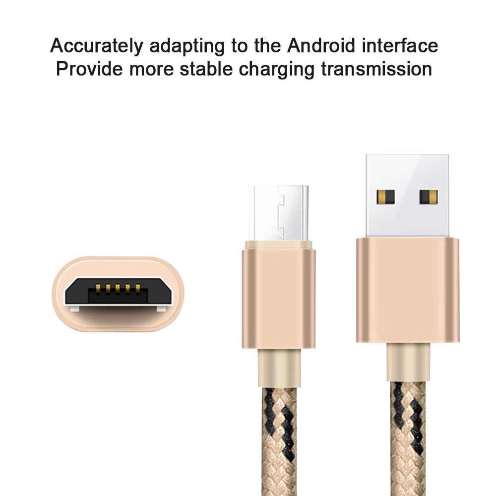 Nylon Nhanh Sạc Cáp Micro USB Sync Cáp Dữ Liệu đối với Samsung Huawei Xiaomi 8 9 Redmi Note4 5 Android Cắm phí điện thoại Dây