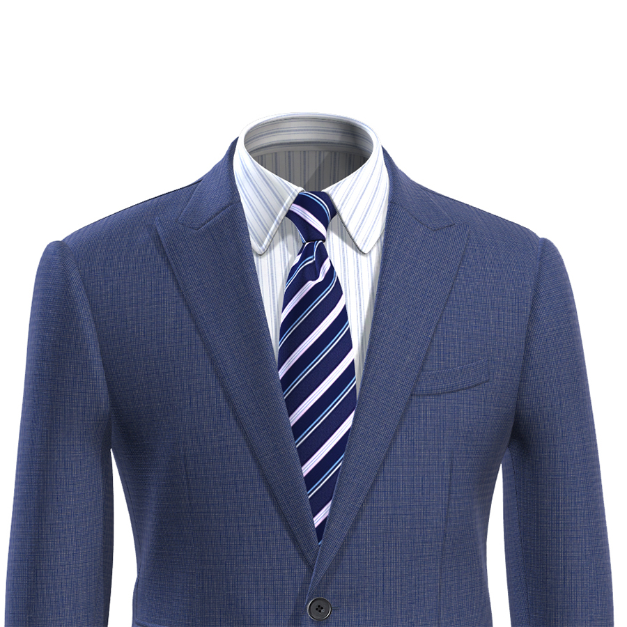 Men Suit Jacket Blue Slim Fit Custom Made Blue Nailhead Men Blazer Jacket Veste Homme Costume Luxe Blaser Masculino
