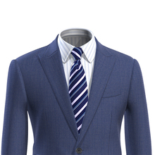 Men Suit Jacket Blue Slim Fit Custom Made Nailhead Blazer Veste Homme Costume Luxe Blaser Masculino