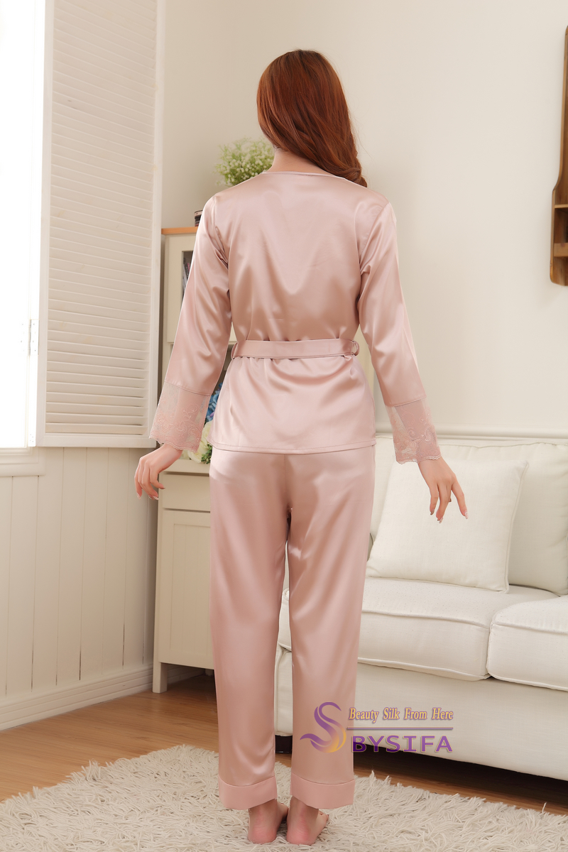 Silk Satin Pajamas Sleepwear Set for women