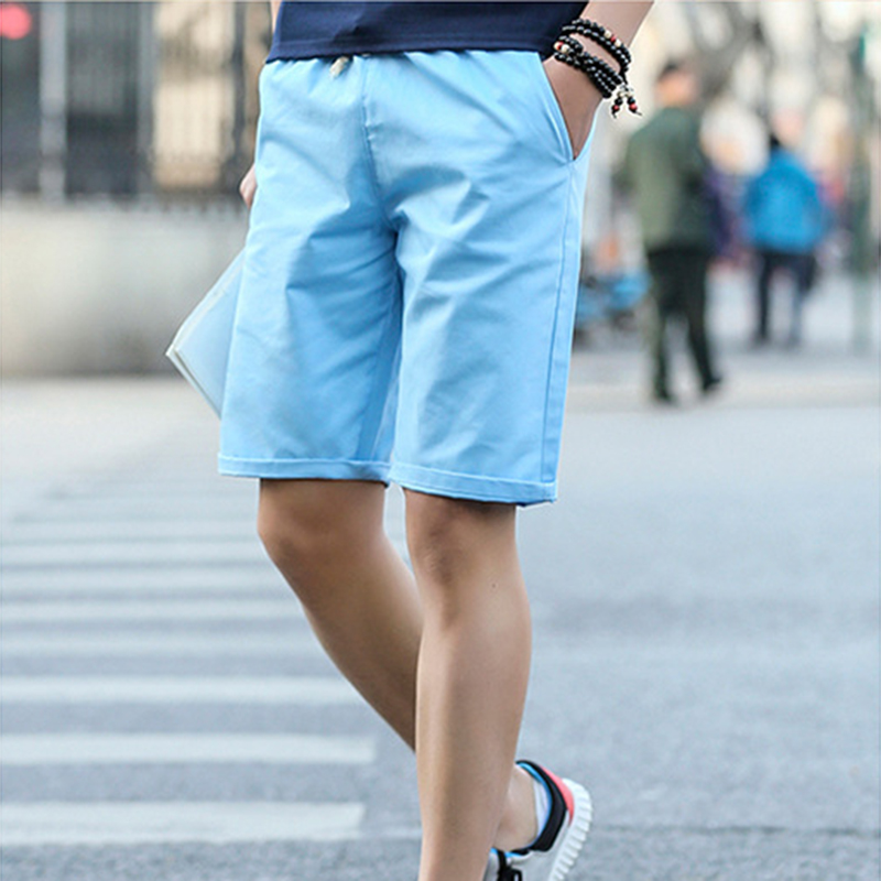 Covrlge Men s Shorts Summer 2019 New Casual Solid Color Shorts Knee Length Beach Men Shorts