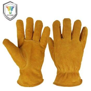 Перчатки для мотокросса OZERO, кожаные, из натуральной воловьей кожи, теплые, для мотокросса, езды на лыжах, с подогревом, зимние, Men2008