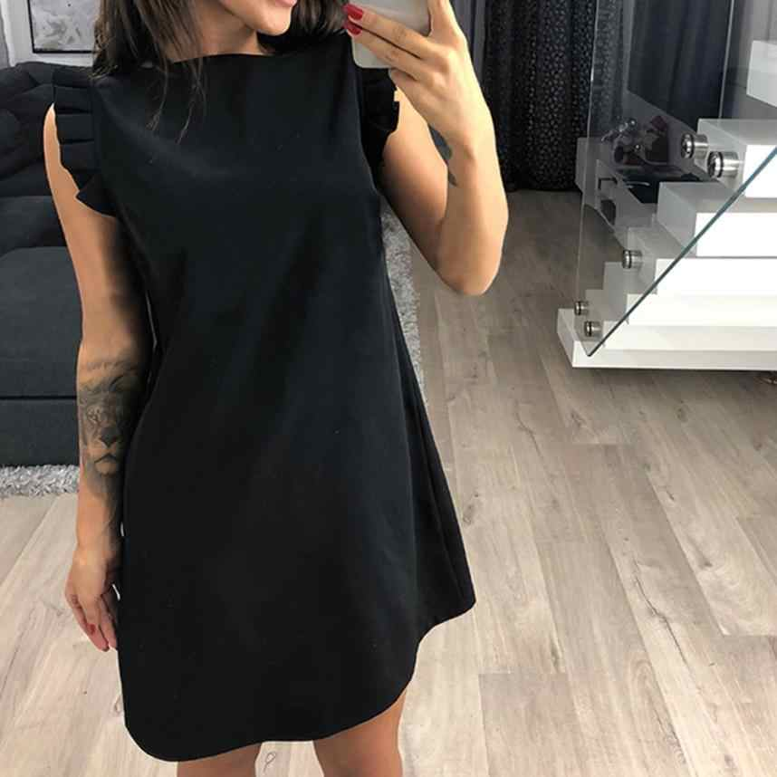 8daac1949da0 ... Round Neck Pocket Spring Dresses. RELATED PRODUCTS. Dress Women Ruffle  Straight Above the Knee Casual Sleeveless Mini 2018 Summer Dress Vestidos  Solid ...