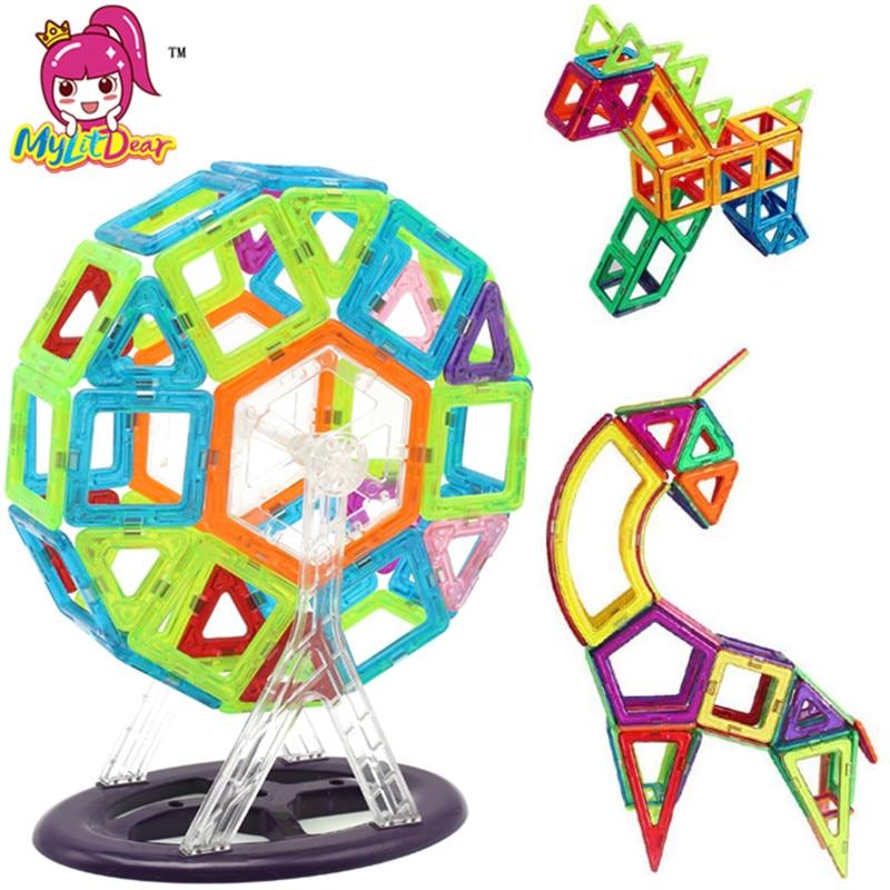 MylitDear 40Pcs Mini Magnetic Construction Models Building Blocks Toy 3D Magnetic Designer Learning Educational Bricks Kids Toys magnetic toy 77pcs mini magnetic models