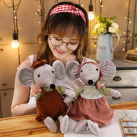 1PC 42cm Dolls Kawaii Stuffed Plush Animals Cartoon Kids Toys for Girls Children Baby Birthday Christmas Gift Couple Mouse Doll