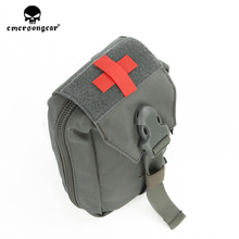 emersongear Emerson Combat Military Airsoft First Aid Kit Pouch Medic Pouch Molle Nylon EDC Survival Bag Outdoor Sports Modular emerson tactical combat chest recon kit bag emersongear military multi purpose utility accessories concealed carry pouch