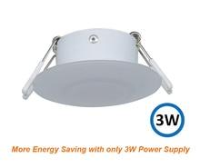 3 W LED תקרת כיפת אור פלסטיק לבן קרוון מנורת עבור 12 V הימי סירת מוטורהום אבזרים
