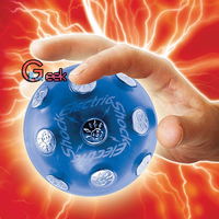 Hot Electric Shocking Ball Novelty Toy X'mas Party Game Shock Glowing Ball Stress Relief Auto off Fun Prank Trick magnetic ball