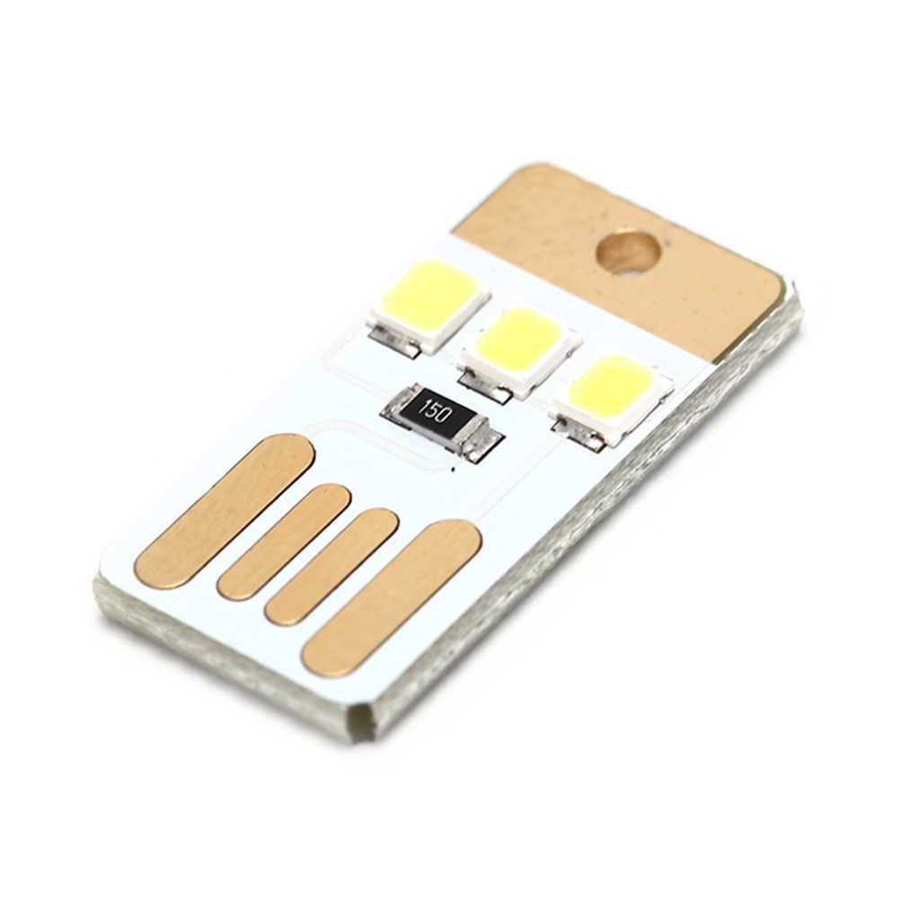 5 יח'\חבילה לילה מנורת מיני כיס כרטיס USB כוח LED Keychain לילה אור 0.2 W USB LED הנורה ספר אור עבור מחשב נייד מחשב Powerbank