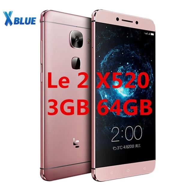 "Orijinal 5.5 ""Letv LeEco Le 2X520 cep telefonu Snapdragon 652 Octa çekirdek cep telefonu 3GB 64GB 1920x1080 16MP Android parmak izi"