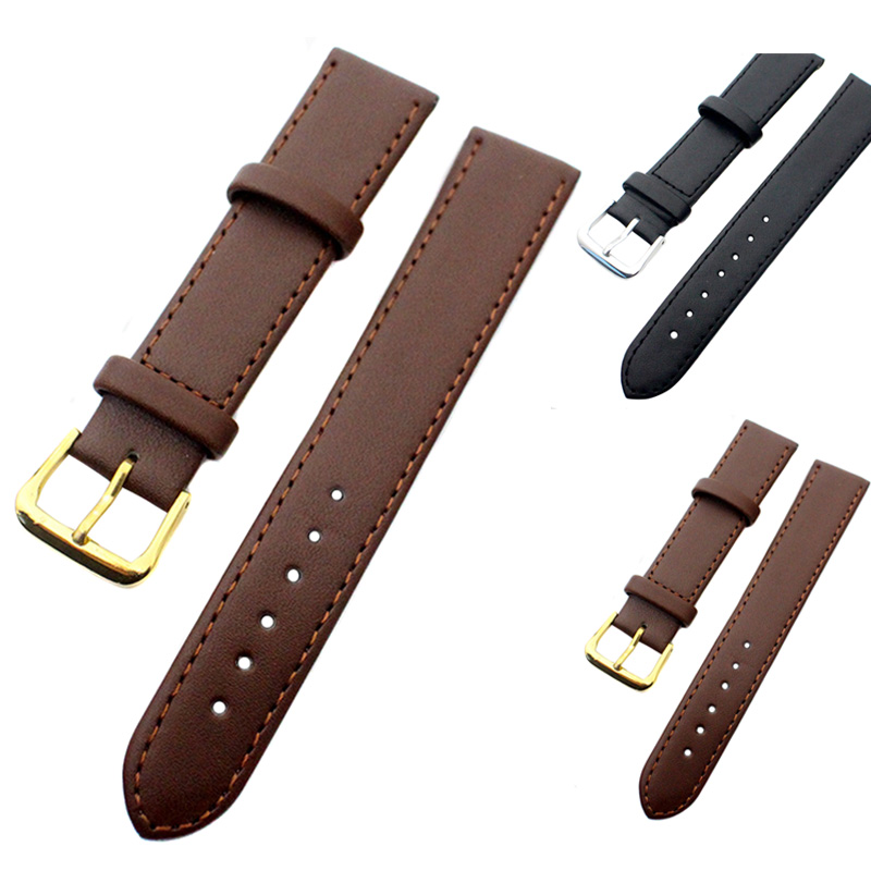 2 Set 8-22MM Width PU Leather Watch Strap Band Watchband Watch Accessories NFE99