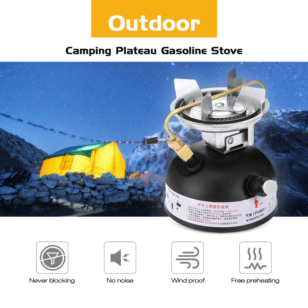 Outdoor Gasoline Stove 500ml Oil Stove Burners Camping Equipment Non Preheating Sound Proof Oil Stove Burner Cookware jeebel oil stove oil box pumb outdoor oil and gas mixing non preheating oil gas mixing pump with plastic box camping