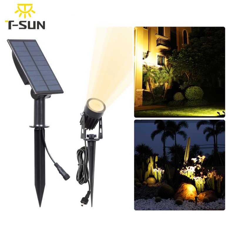 T-SUNRISE Солнечный свет открытый светодиодный солнечные садовые солнечные светильники Прожекторы прожекторы лампы для стены двора безопасности