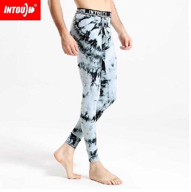 INTOUCH ropa interior masculina bajo la cintura masculina calzoncillos largos apretados calzoncillos de algodón otoño y el invierno masculina termal legging