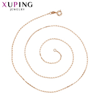 11 11 Deals Xuping Fashion Rose Gold Color Plated Necklace Charm Style Long Necklace Women Girls