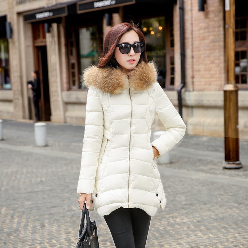 Womens winter jackets coats raccoon fur hood parka femme abrigos y chaquetas mujer invierno 2015 manteau hiver  -  Angel Fashion Street store