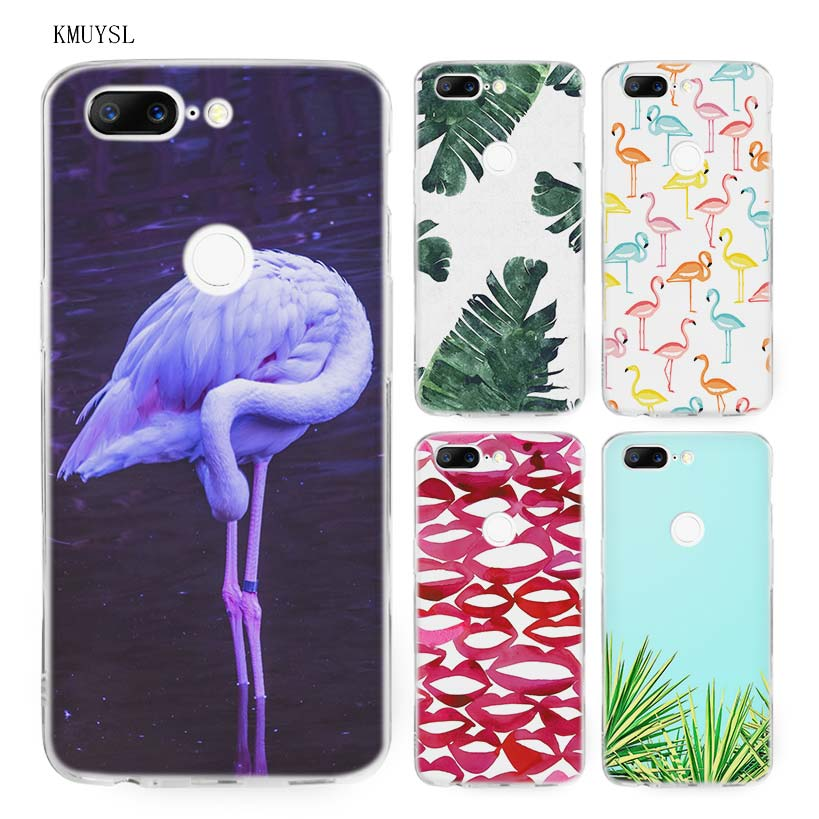 KMUYSL Leaf Leaves flower flamingo lips TPU Ultra Thin Transparent Soft Case Cover for One Plus Oneplus 5T 6