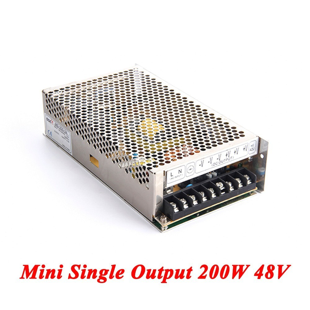 MS-200-48 Mini Switching Power Supply 200W 48v 4A,Single Output Ac-Dc Power Supply For Led Strip,AC110V/220V Transformer To DC free shipping 35w 24v 1 5a single output mini size switching power supply for led strip light ms 35 24