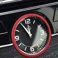 Red 3D stickers Metal decorative circle central clock For Mercedes-Benz New C-Class C180L 200L 260L Car interior accessories
