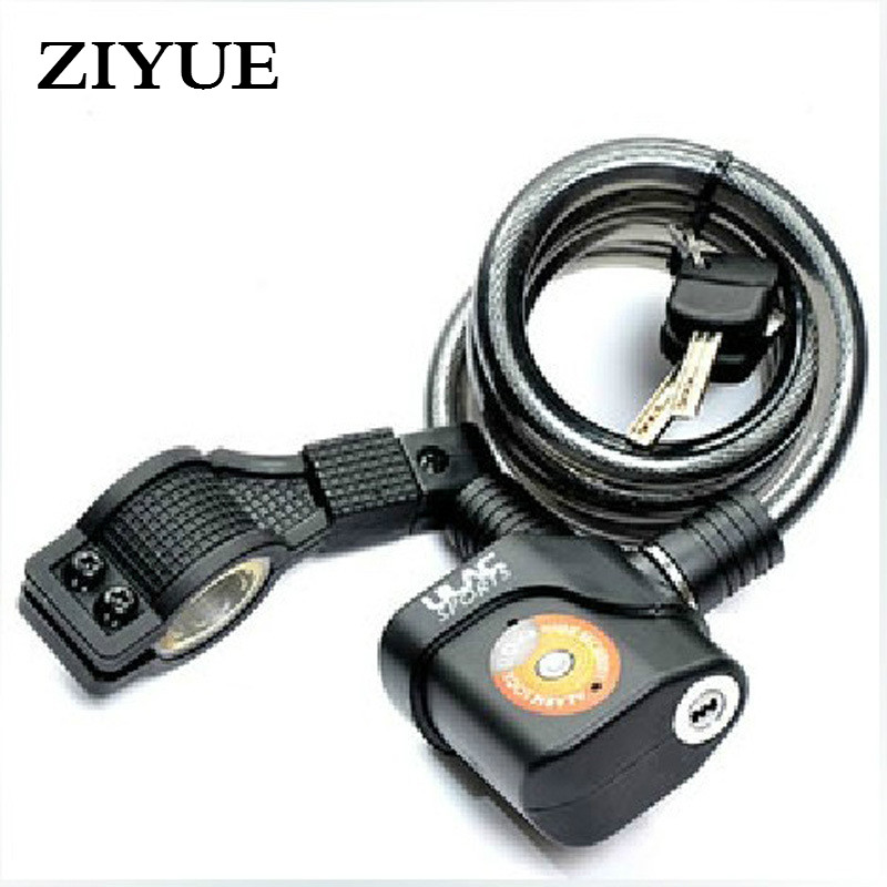 Free Shipping Alarm Lock Cable Lock Bicycle free shipping universal chain lock for motorcycle lock bicycle lock